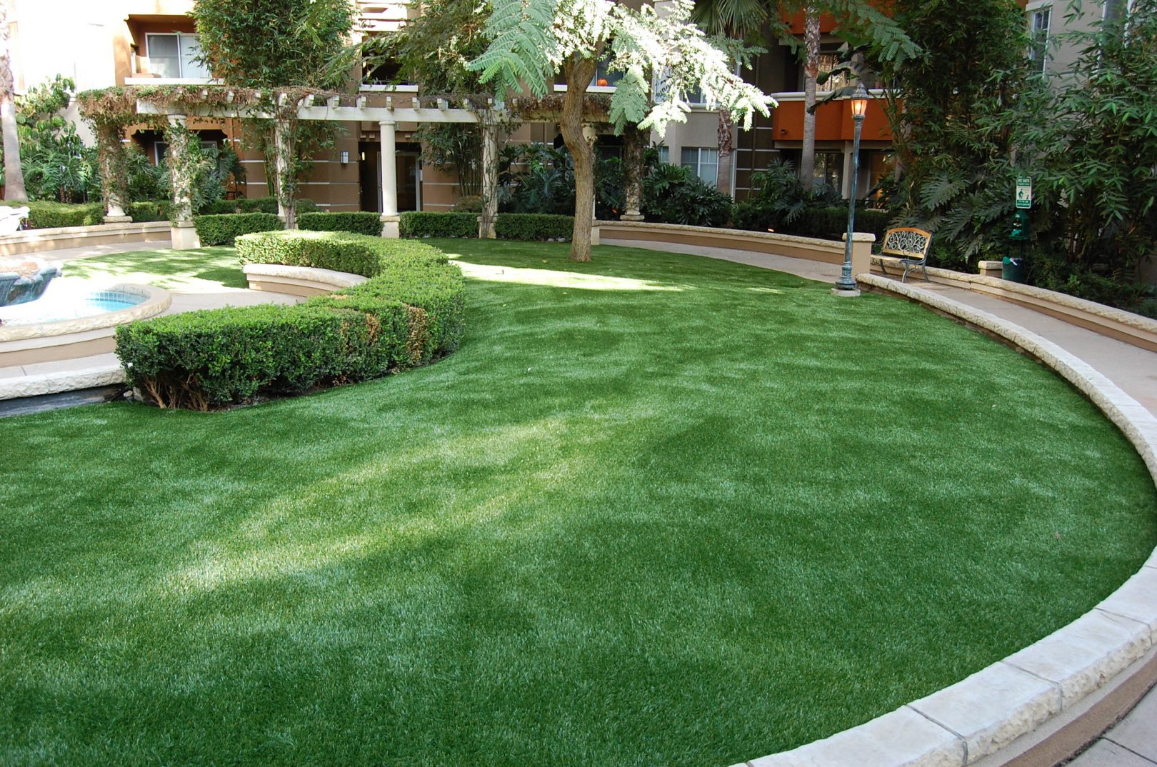 Xeriscaping artificial grass 101 fivestar landscape for Garden design ideas artificial grass