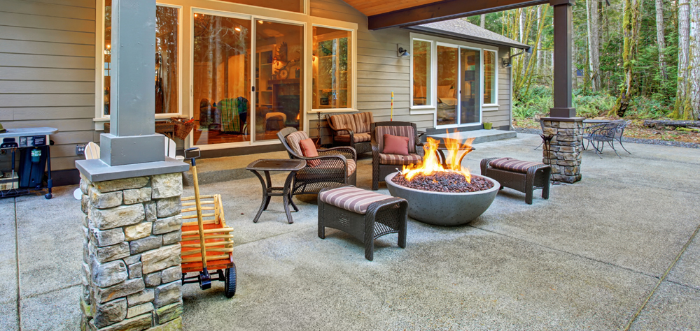 Theme Firepit Fireplace Landscaping