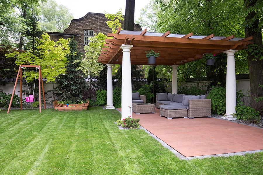Backyard Landscape Design - Covered Patio