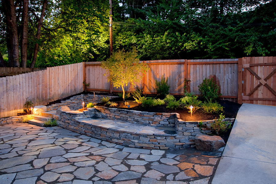 ... Design Landscape_fornt_yard_lighting_sacramento Flagstone Walkway    Landscape Lighting ...