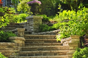 Stamped Concrete Stairs and Ledges