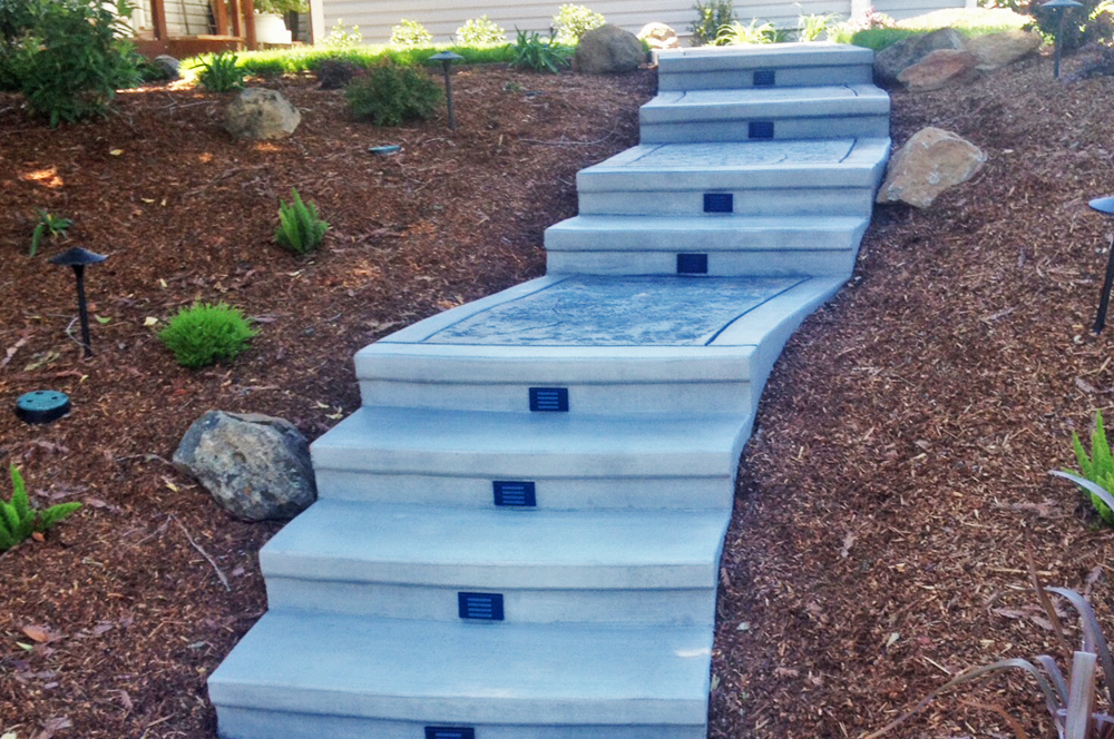 Stamped Concrete Stairs Sacramento