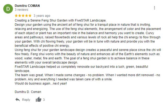 FiveStar Landscape Reviews