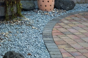 Paver Stone Patio - Drought Proof